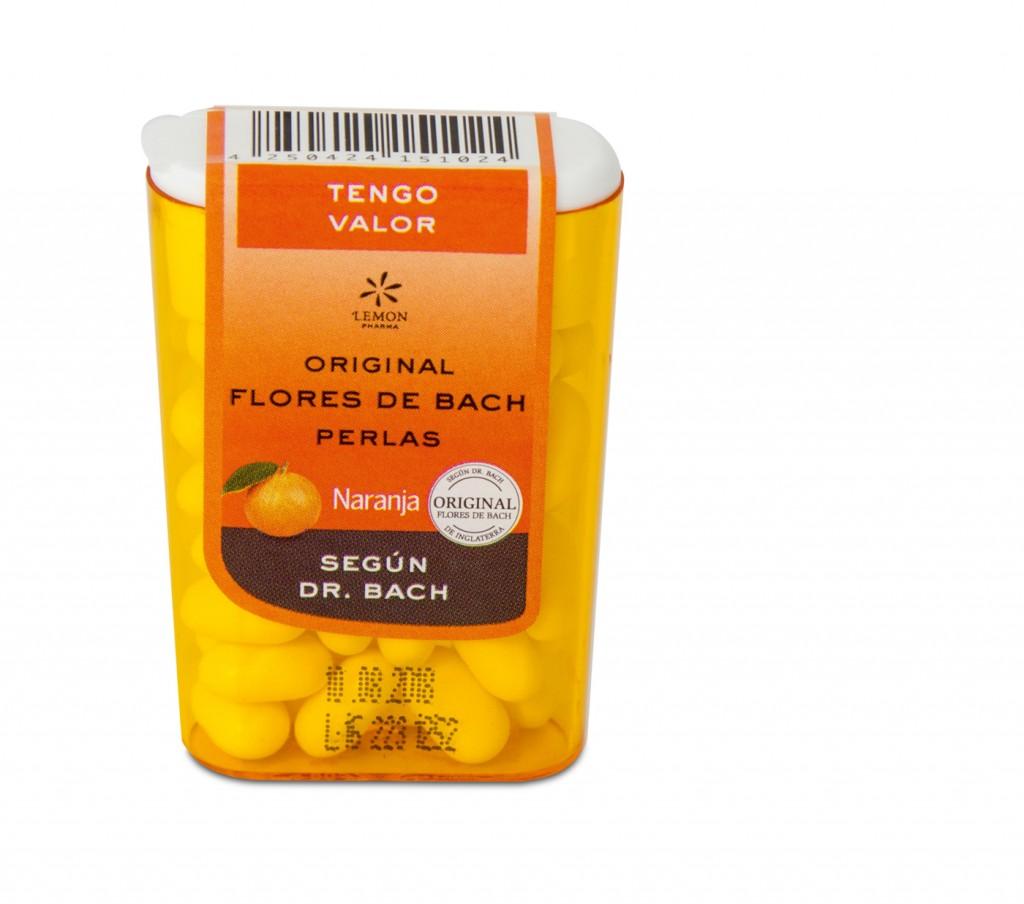Perlas con flores de bach sabor naranja