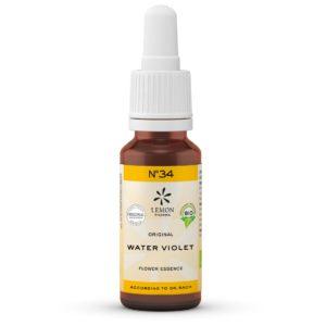 Gotas Flores de Bach Lemon Pharma Original Nº 34 Water Violet Violeta de Agua Vínculo