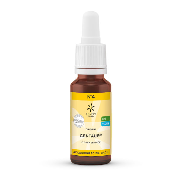 Nr 4 Centaury Tausendgüldenkraut Extreme Beeinflussbarkeit Lemon Pharma Original Bachblüten Dr. Bach