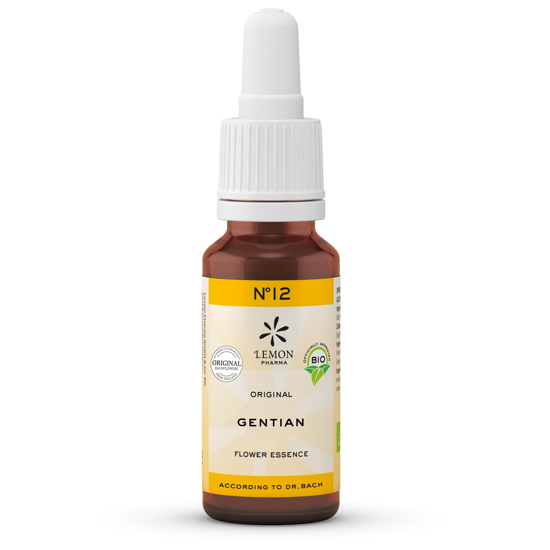Lemon Pharma Original Bachblüten Tropfen Nr 12 Gentian Herbtenzian Glaubenskraft