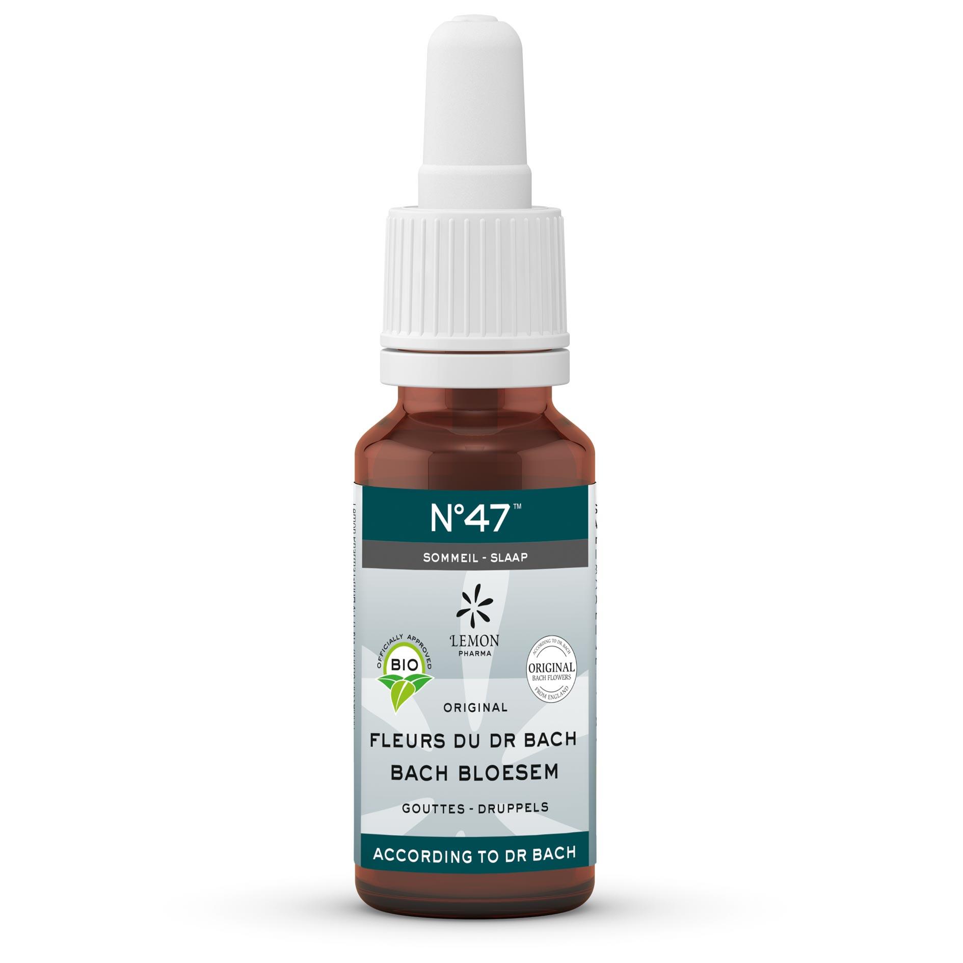 Lemon Pharma Original Bach Flower Remedies Liquid Drops No 47 Sleep Vervain Balance